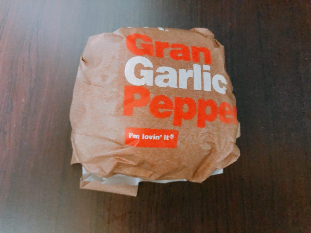 【マクドナルド】グラン ガーリックペッパーを食べてみました!【感想・レビュー】